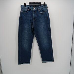 Banana Republic Mid Rise Straight Cuffed Jeans